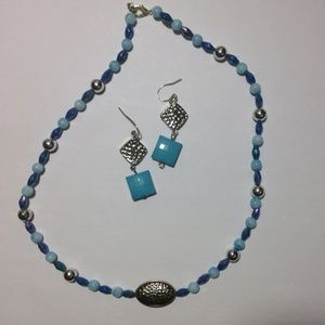 Jewelry - Beaded Necklace-Earring Set